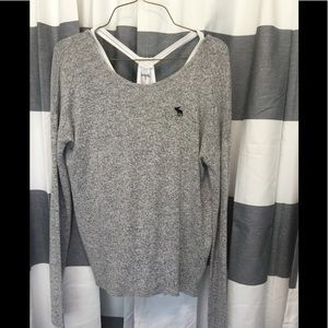AF Abercrombie gray Sweater attached Tank 15 16